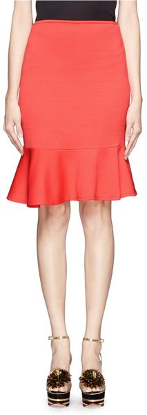 St. John Milano Knit Flounce Pencil Skirt - Lyst
