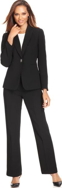 Tahari By Asl Toggle closure Pant suit - Lyst