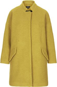 Topshop Wool Notch Neck Coat - Lyst