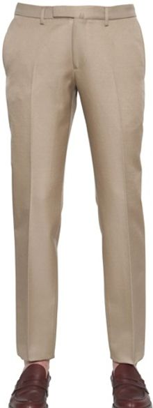 Valentino Stretch Cotton Poplin Trousers - Lyst