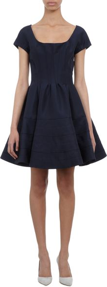 Zac Posen Flounce Skirt Cocktail Dress - Lyst