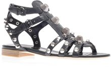Balenciaga Arena Studded Leather Sandals - Lyst