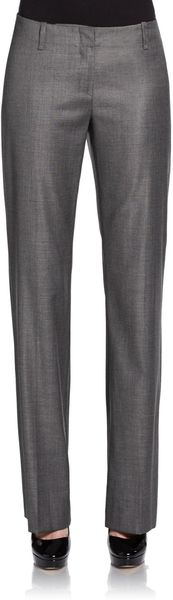 Boss Black Tulia Wool-Blend Trousers - Lyst