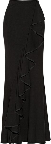 Donna Karan New York Modern Icons Ruffled Stretch knit Maxi Skirt - Lyst