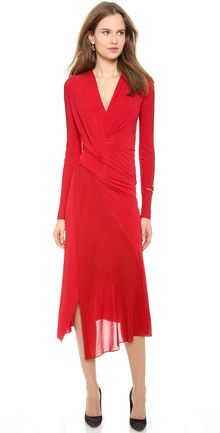 Donna Karan New York Plunge V Twist Dress - Lyst