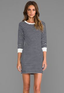 Theory Bimini Zamion Dress in Navy - Lyst