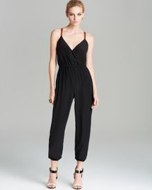 Twelfth Street by Cynthia Vincent Jumpsuit Leather Strap Silk - Lyst