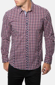 7 Diamonds Love Is Eternal Plaid Woven Shirt - Lyst