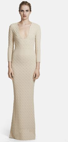 Alexander McQueen Diamond Knit Gown - Lyst