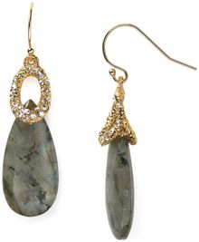 Alexis Bittar Crystal Encrusted Cap Labradorite Earrings - Lyst