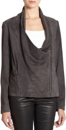 Haute Hippie Suede Draped Jacket - Lyst