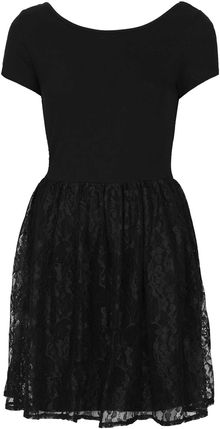 Topshop Lace Flippy Dress - Lyst