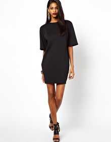 Asos Ovoid Seam Tee Dress - Lyst