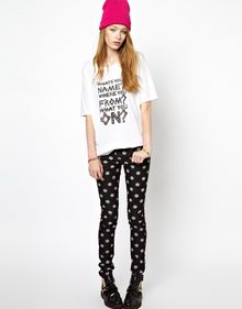 House Of Holland Oversized Tee with Whats Your Name Print - Lyst