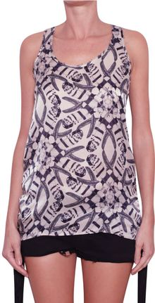 Laneus Printed Silk Tank Top - Lyst