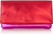Saint Laurent Letters Metallic Leather Clutch - Lyst