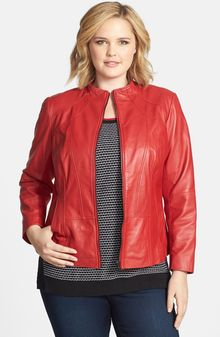 Sejour Lambskin Leather Jacket - Lyst
