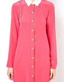 Sonia By Sonia Rykiel Zip Shirt Dress in Silk - Lyst
