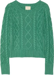 Band Of Outsiders Cable Knit Sweater - Lyst