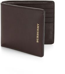 Burberry Leather Bifold Wallet - Lyst