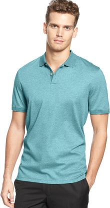Calvin Klein Short Sleeve Button Polo Shirt - Lyst