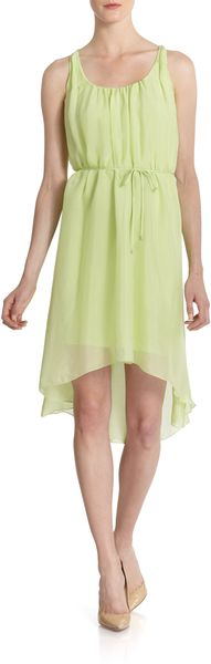 Elie Tahari Harper Silk Georgette Hilo Dress - Lyst
