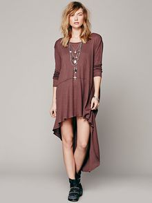 Free People Amys Long Sleeve Tee Dress - Lyst