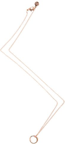 Gorjana Delaney Wave Ring Necklace - Lyst