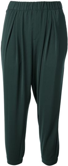 Helmut Lang Cropped Loose Fit Trouser - Lyst