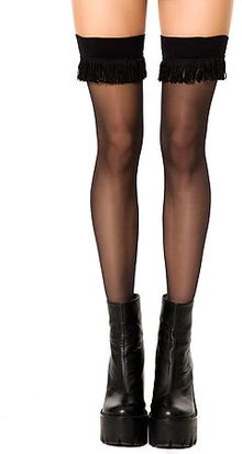 House Of Holland The Sheer Fring Hold Up Thigh Highs - Lyst