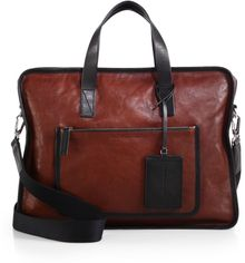 Marc By Marc Jacobs Out-of-bounds Leather Briefcase - Lyst