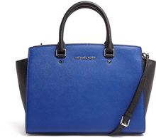 Michael by Michael Kors Colour Block Selma Top Zip Satchel - Lyst