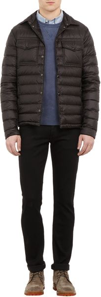 Moncler Qulted Downfilled Shirt Jacket - Lyst