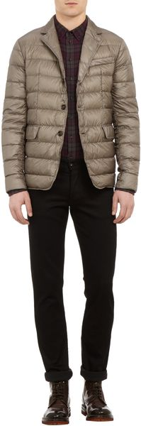 Moncler Notched-lapel Down Jacket - Lyst