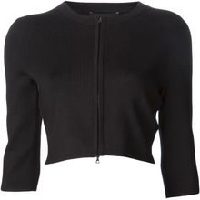 Narciso Rodriguez Ribbed Cropped Cardigan - Lyst