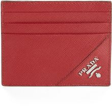 Prada Saffiano Leather Credit Card Case - Lyst