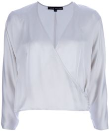 Ralph Lauren Black Label Voletta Wrap Top - Lyst