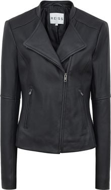 Reiss Jenn Short Collar Biker Jacket - Lyst