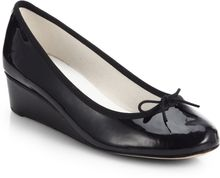 Repetto Norma Patent Leather Ballet Wedges - Lyst