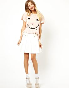 Wildfox Naughty Cat Face Tshirt - Lyst