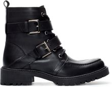 Zara Leather Lace Up Ankle Boot - Lyst