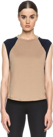 3.1 Phillip Lim Baseball Tank with Contrast Sleeve - Lyst
