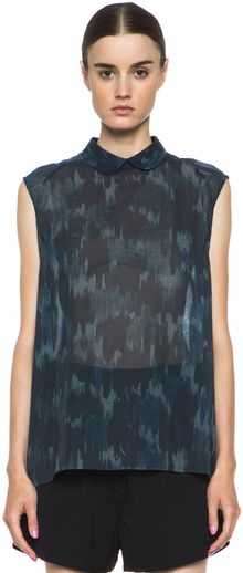 Acne Riley Organza Blouse - Lyst