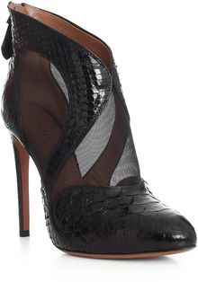 Alaïa Python and Mesh Shoe Boot - Lyst