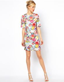 Asos Photographic Jewel Print Tshirt Dress - Lyst