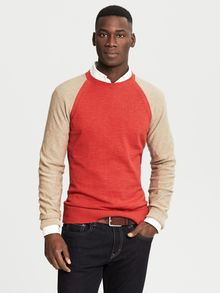 Banana Republic Heritage Textured Crew Tomato Paste - Lyst