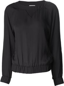 Band Of Outsiders Round Neck Baseball Blouse - Lyst