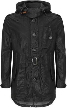 Burberry Brit Waxed Parka Jacket - Lyst