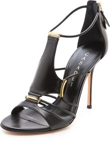 Casadei Strappy Stiletto Sandals - Lyst