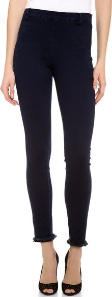 Donna Karan New York Second Skin Jeans with Frayed Hem - Lyst